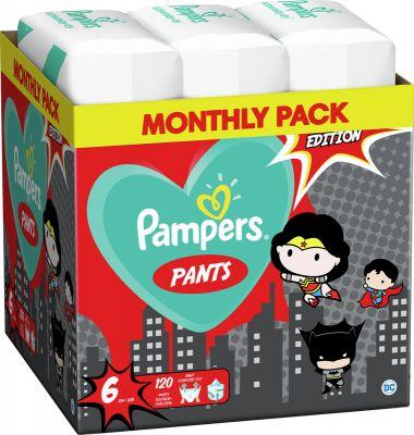 2x PAMPERS Plenkové kalhotky Pants vel. 6, 60 ks, 15 kg+ Warner Bros LTD
