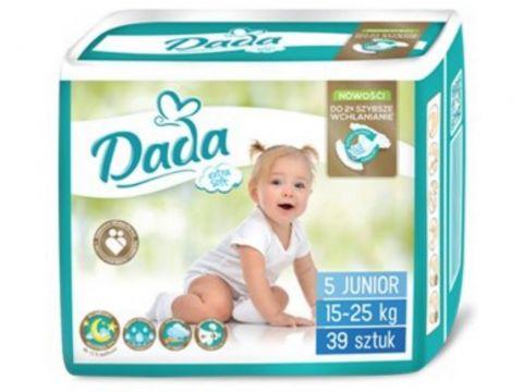 DADA Jednorázové pleny Extra Soft Junior vel. 5 (15-25 kg), 39 ks