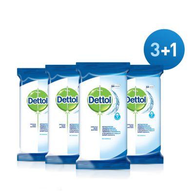 DETTOL Ubrousky na povrchy antibakteriální 4 x 84 ks (3+1)