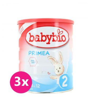 3x BABYBIO PRIMEA 2 kojenecké bio mléko 800 g