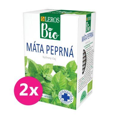 2x LEROS BIO Čaj Máta peprná