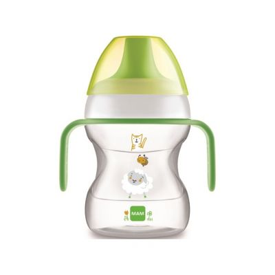 MAM Hrnek na učení Learn to drink cup 190 ml, 6m+ zelený