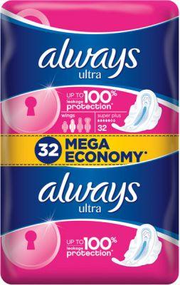ALWAYS Ultra Super Plus (32 ks) – dámske vložky