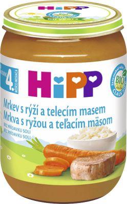 HIPP BIO Karotka s rýží a telecím masem (190 g) - maso-zeleninový příkrm