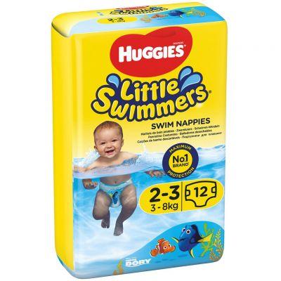 HUGGIES Little Swimmers vel.2-3 (3-8 kg) 12 ks - jednorázové pleny do vody