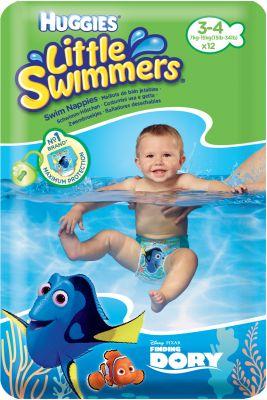 HUGGIES® Little Swimmers vel. 3-4 (7-15 kg), 12 ks - jednorázové plienky do vody