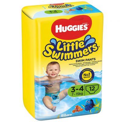 HUGGIES Little Swimmers vel.3-4 (7-15 kg) 12 ks - jednorázové pleny do vody