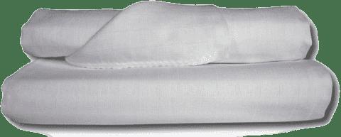 Libštátské pleny Detská bavlnená plienka / osuška, 90x100 cm, biela, 2 ks
