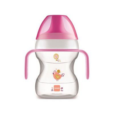MAM Hrnek na učení Learn to drink cup 190 ml, 6m+ růžový