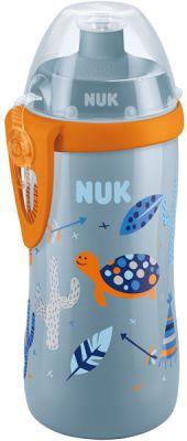 NUK FC Fľaša PP Junior Cup 300 ml , push - pull naústok (modrá)