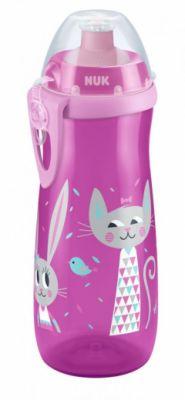 NUK First Choice Láhev Sports Cup, PP, 450 ml, silikon push-pull pítko (36+ m) - růžová