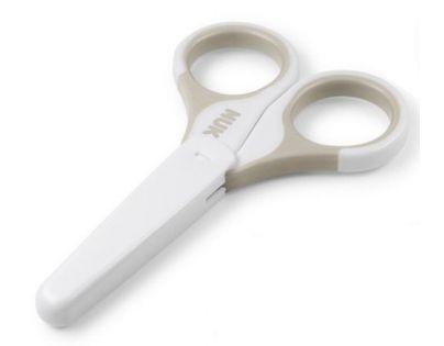 NUK Zdravotní nůžky s krytem, šedá