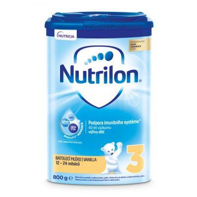 NUTRILON 3 Vanilla batolecí mléko 800 g, 12+