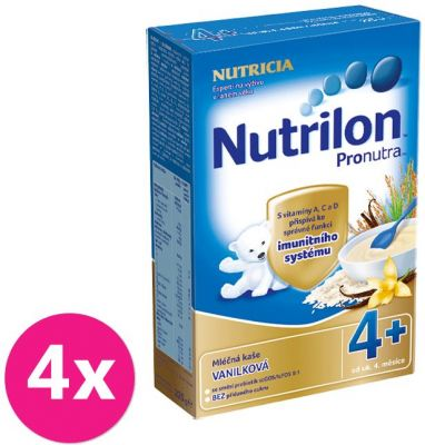 4x NUTRILON ProNutra vanilková (225g) - mliečna kaša