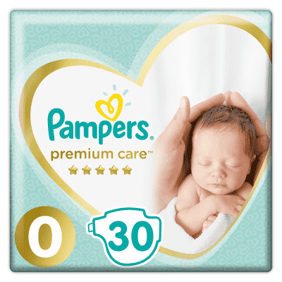 PAMPERS Premium Care 0 NEWBORN 30ks (do 2,5 kg) - jednorazové plienky