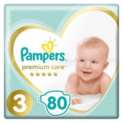 PAMPERS Premium Care 3 MIDI 80 ks (6-10 kg) JUMBO PACK- jednorazové plienky