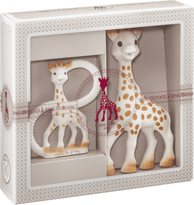 VULLI Môj prvý darčekový set žirafa Sophie a krúžok na hryzenie