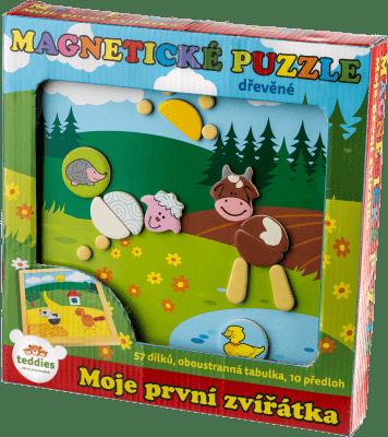 TEDDIES Magnetické puzzle Moje první zvířátka 57 ks