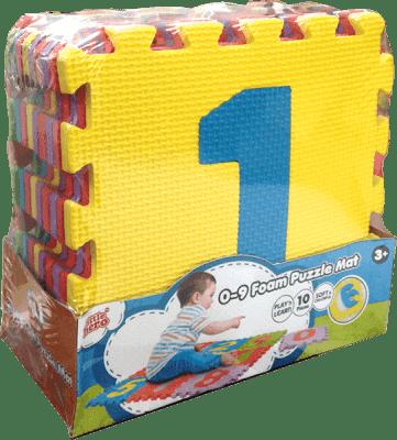 TEDDIES Pěnová puzzle podložka Čísla 0-9