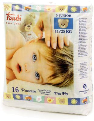 TRUDI BABY Dry Fit Junior 11-25 kg (16 ks) s vrstvou Perfo-Soft – dětské pleny