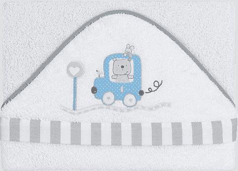 INTERBABY osuška dětská froté 100x100 auto - modrá
