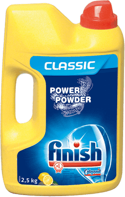 FINISH Power Powder Detergent do zmywarek 2,5 kg, cytrynowy