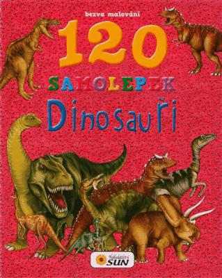 KNIHA Bezva malování - Dinosauři 120 samolepek