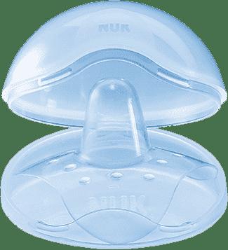 NUK Prsné klobúčik silikón + box (2 ks), veľkosť M
