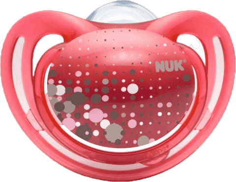 NUK červený Dudlík FREESTYLE, silikon, velikost 1 (0-6m.)