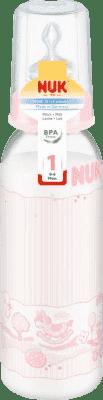 NUK Láhev PP 240ml, silikon (0-6m) – růžová (Feedo klub)