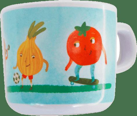 PETITE&MARS Hrnek melaminový - zelenina