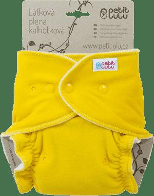 PETIT LULU Žlutý medvídek (velur) - kalhotková plena pat