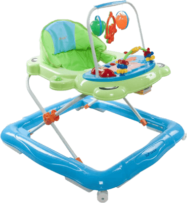 SUN BABY Dětské chodítko Footy – zeleno modrá