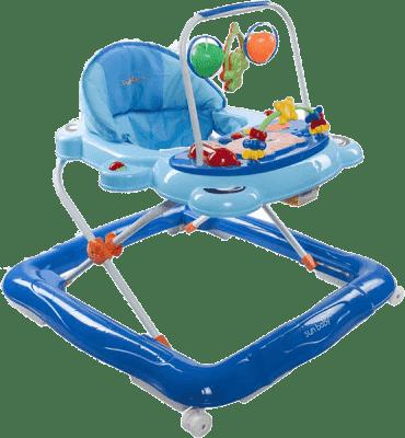 SUN BABY Dziecięcy chodzik Footy – niebieski
