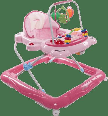 SUN BABY Detské chodítko Foot - ružová