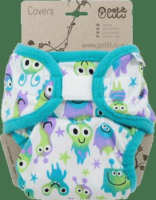 PETIT LULU Svrchní kalhotky (4 - 15 kg) - Tyrkysové potvůrky