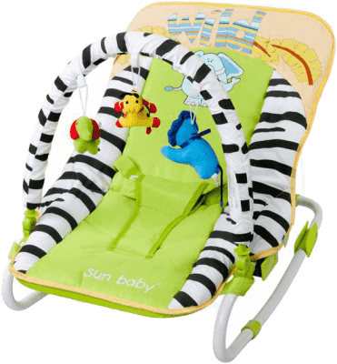 SUN BABY Dětské lehátko Safari – Green