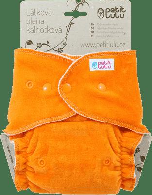 PETIT LULU Oranžová kačička (velúr) - nohavičková plienka pat