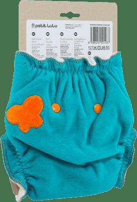 PETIT LULU Oranžový motýlik (velúr) - nohavičková plienka pat
