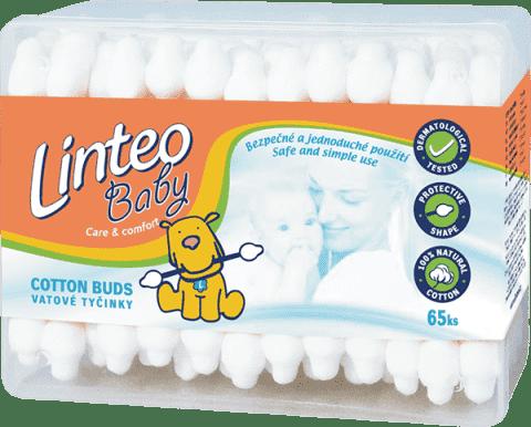 LINTEO BABY Patyczki higieniczne, 65 szt., plastikowe pudełko