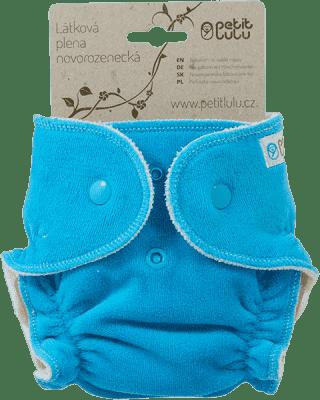 PETIT LULU Modrá lodička (velúr) - novorodenecká plienka