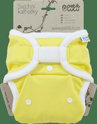 PETIT LULU Žluté (bílá) - svrchní kalhotky