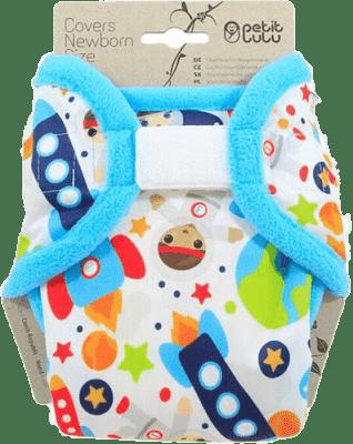 PETIT LULU Novorozenecké svrchní kalhotky (2 – 6 kg) - Kosmonauti