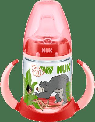 NUK FC Fľaša na učenie PP, DISNEY Kniha džunglí 150ml, silikónové fontánka s pitnou vodou - červená