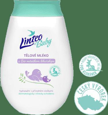 LINTEO Baby Detské telové mlieko s Bio nechtíkom lekárskym, 250 ml