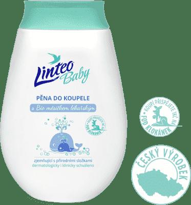 LINTEO Baby Dětská pěna do koupele s Bio měsíčkem lékařským, 250 ml