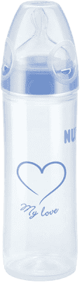NUK NEW CLASSIC Láhev LOVE PP 250 ml,Silikon,Velikost 2,M – modrá