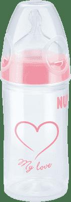 NUK NEW CLASSIC Láhev LOVE PP 150 ml,Silikon,Velikost 1,M – růžová,různé motivy