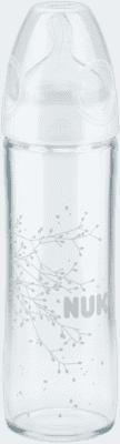 NUK NEW CLASSIC Láhev LOVE sklo 240 ml,Silikon,Velikost 1,