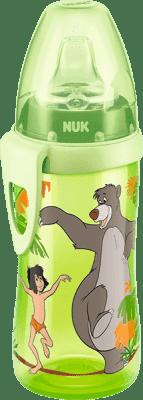 NUK FC Butelka PP Active, DISNEY KSIEGA DZUNGLI 300 ml, silikonowy ustnik - zielona